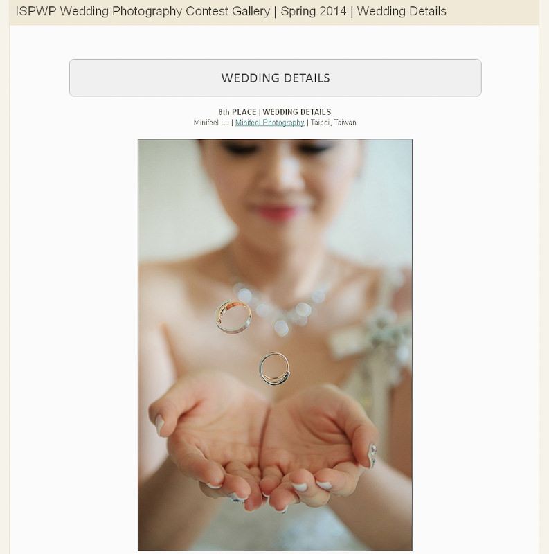 婚攝小寶,WPJA ,AGWPJA ,Fearless ,MINIFEEL, Awards,ISPWP,The Wedding Dress,Wedding Details,ISPWP,ISPWP 2014-1-2