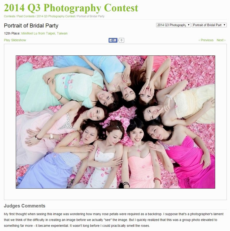 WPJA 2014,WPJA Q3,婚攝小寶,Awards,ISPWP,Portrait of Bridal Party