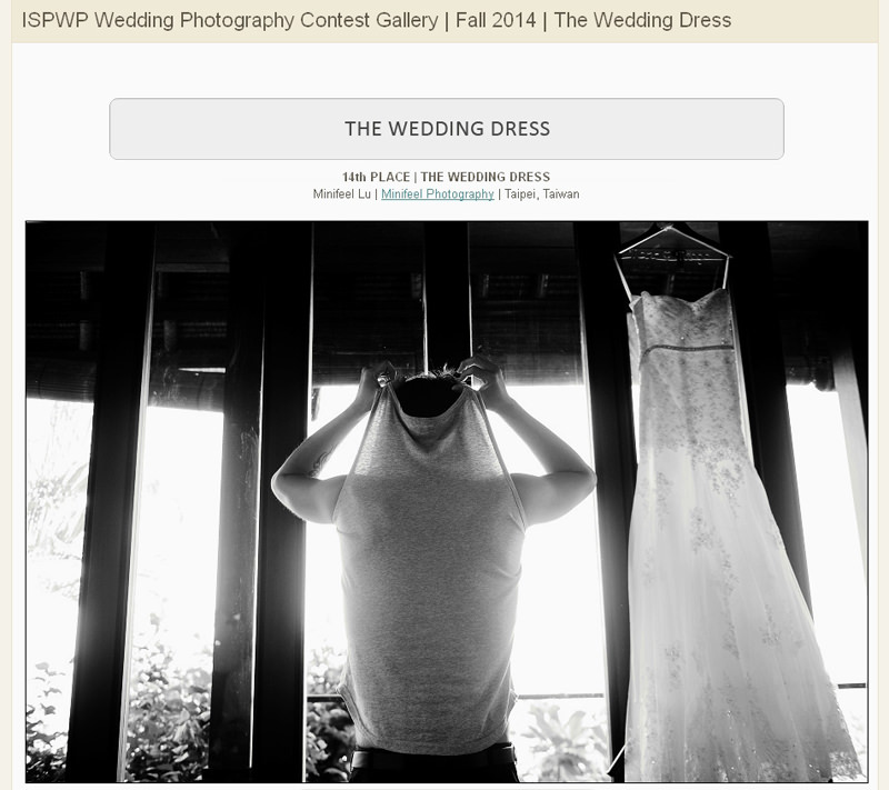 婚攝小寶,WPJA ,AGWPJA ,Fearless ,MINIFEEL, Awards,ISPWP,The Wedding Dress,ISPWP