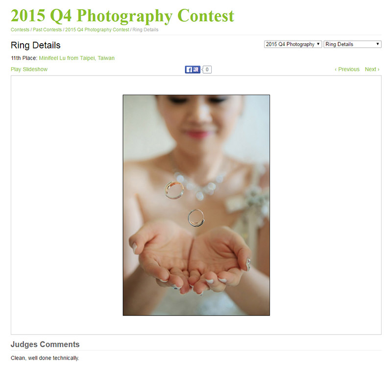 婚攝小寶,WPJA ,WPJA台灣 ,MINIFEEL, Awards,Ring Details,WPJA2015